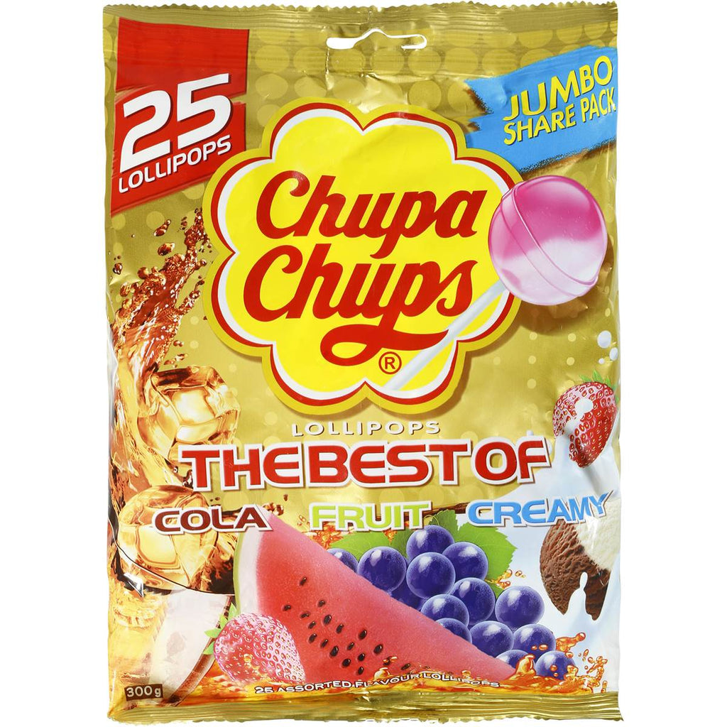Chupa Chups The Best of 25's Bags x 6 PACK - nutsandsweets.com.au