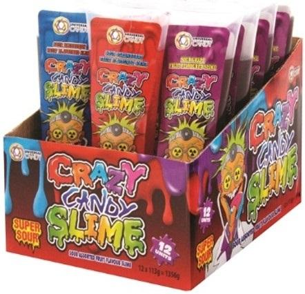 NOVELTY CRAZY CANDY SLIME 113G X 12 - nutsandsweets.com.au