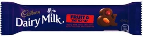 Chocolate Cadbury Fruit & Nut 55g X 42 - nutsandsweets.com.au