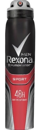 REXONA MEN-Sport Antiperspirant Deodorant Spray  250ML X 6 - nutsandsweets.com.au