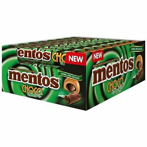 Confectionery Mentos Choco & Mint 38G X 12 - nutsandsweets.com.au