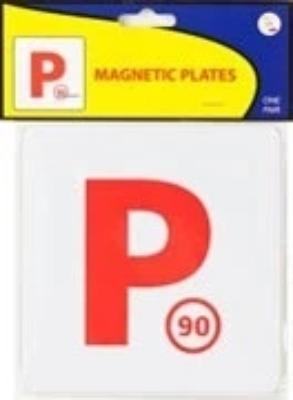 Automotive - P RED MAGNETIC PLATES 2-pack