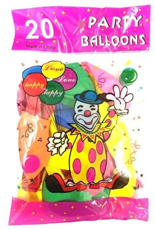 Party Balloons LARGE 20'S - nutsandsweets.com.au