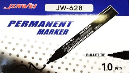 JIAWEI Permanent Marker Box with 10pcs