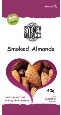 Sydney Nut and Sweet SnackPack 40g x24-Smoked Almonds