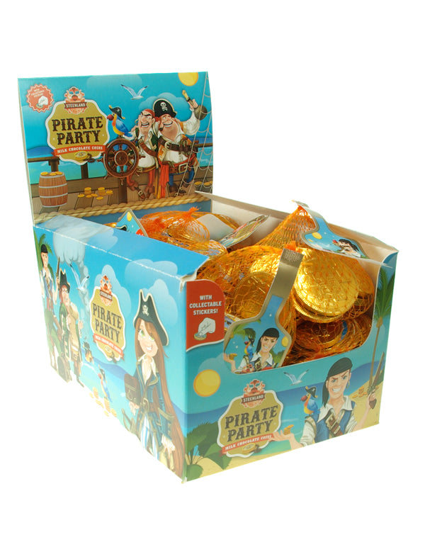 Novelty  PIRATE PARTY  MILK CHOCOLATE COINS 30G X 50
