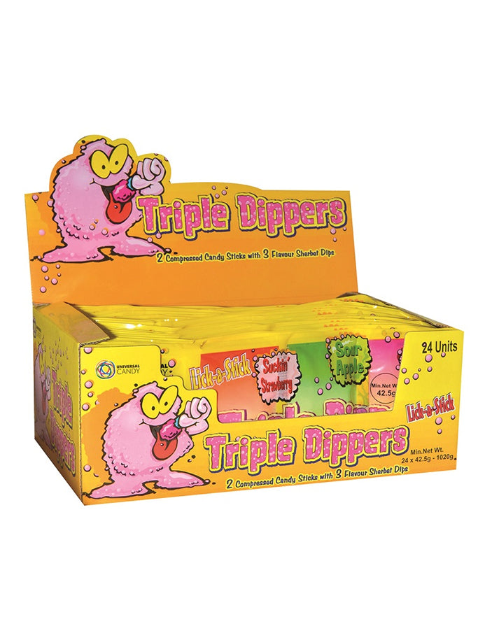 Tripple Dippers Sherbet Candy 24 pack x 42.5g