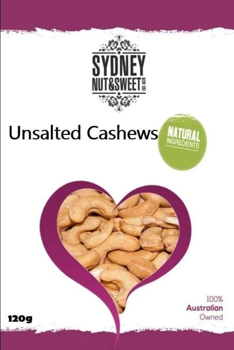 Sydney Nut and Sweet Unsalted Cashews - nutsandsweets.com.au