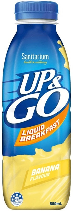 UP & GO BANANA 500ML X 12 - nutsandsweets.com.au