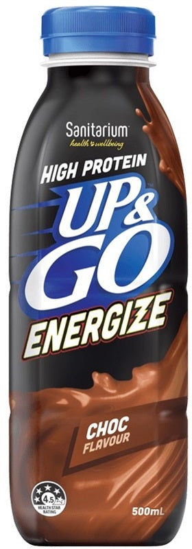 UP & GO ENERGIZE CHOC 500ML X 12