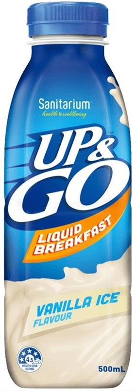 UP & GO VANILLA 500ML X 12 - nutsandsweets.com.au