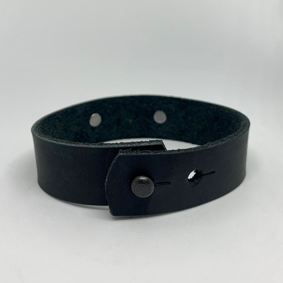 Hustle Men's Black/Silver Bracelet