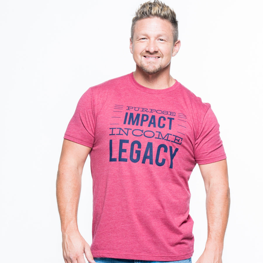 Purpose, Impact, Income, Legacy Short Sleeve Tee