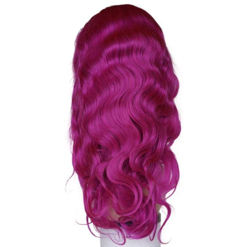 Electric Purple Front Lace Wig