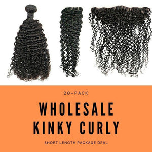 Brazilian Kinky Curly Short Length Package Deal