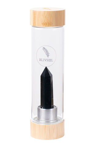 Bamboo Crystal Water bottle Protektion