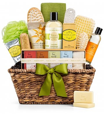 Natural Spa Gift Basket for Her