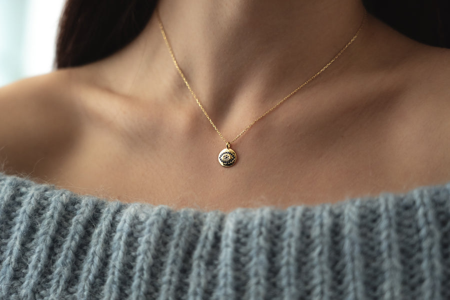 Eye Button Necklace