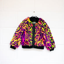 Load image into Gallery viewer, MADE TO ORDER Neon Leopard Bomber Jacket