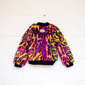 MADE TO ORDER Neon Leopard Bomber Jacket