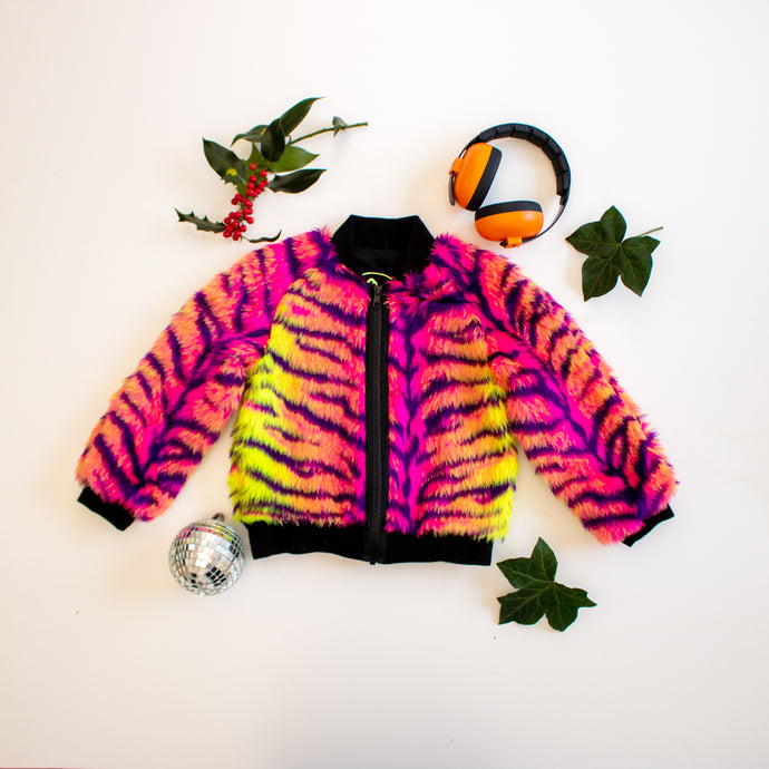 Neon Tiger Bomber Jacket