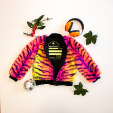 Load image into Gallery viewer, Neon Tiger Bomber Jacket