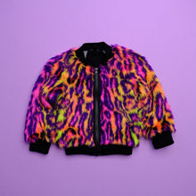 Load image into Gallery viewer, Neon Leopard Bomber Jacket