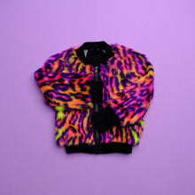 Load image into Gallery viewer, Ready to ship - Neon Leopard Bomber Jacket