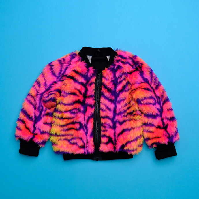 Ready to ship - Neon Tiger Bomber Jacket