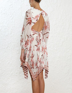 Zimmermann Corsage Pleat Mini Dress