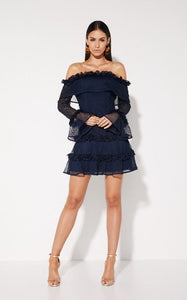 Mossman The Mood Swing Dress in Navy