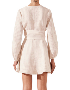Shona Joy Isadora Plunged Mini Dress With Belt