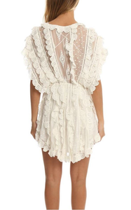 Zimmermann Valour Scallop Ruffle Dress