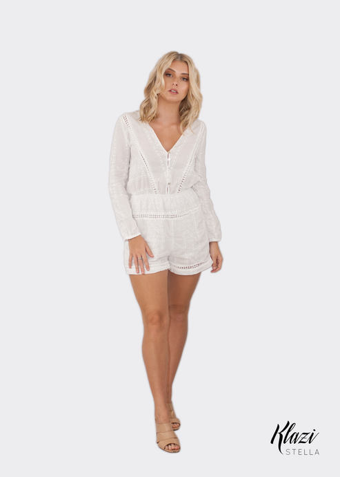 12235460383 Zimmermann Georgia Embroidery Playsuit