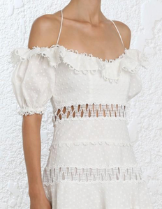 Zimmermann Melody Off The Shoulder Dress
