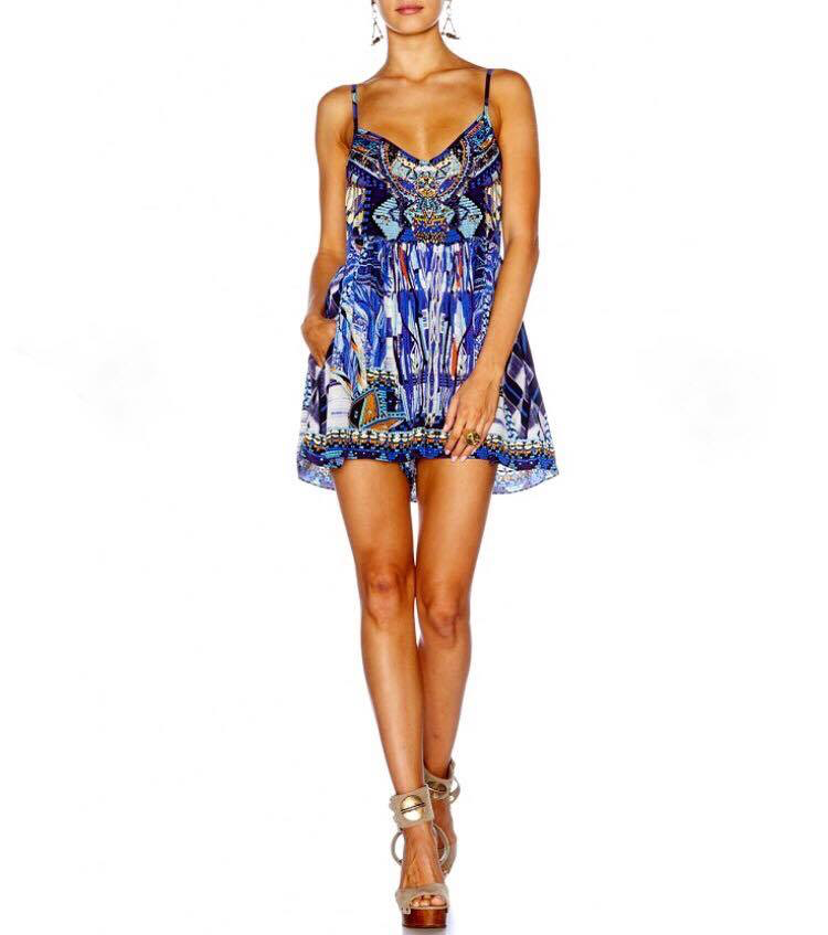Camilla Rhythm & Blues Gathered Wide Leg Playsuit