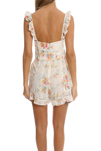 Zimmermann Floral Bustier Playsuit
