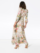 Load image into Gallery viewer, Zimmermann Heathers Floral Print Linen Maxi Dress