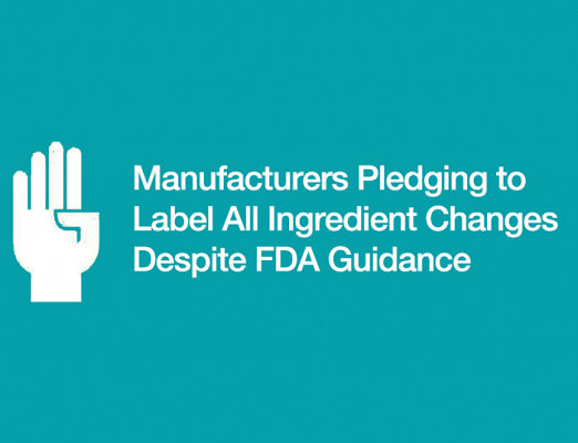 FDA relaxes food ingredients labeling rules.
