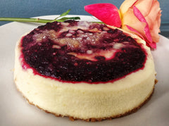 Triple Berry Streusel Cheesecake (certified gluten free), 6in.