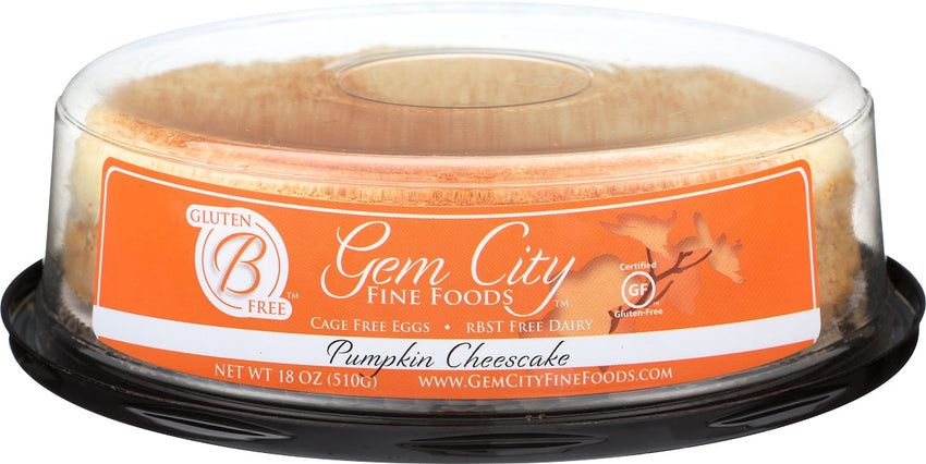 Pumpkin Cheesecake (certified gluten free), 6in.