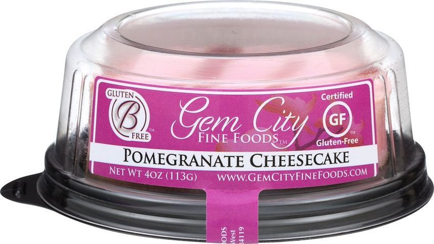 Pomegranate Cheesecake (certified gluten free) 4- 3in.