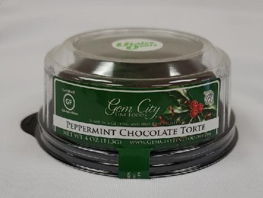 Peppermint Chocolate Torte (certified gluten free), 4 - 3in.