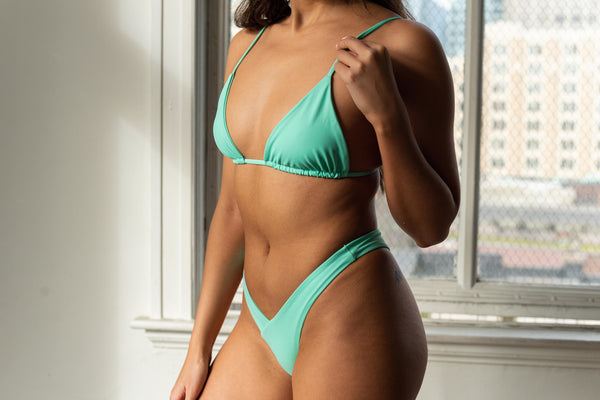 light green women's bikini swimsuit bottoms