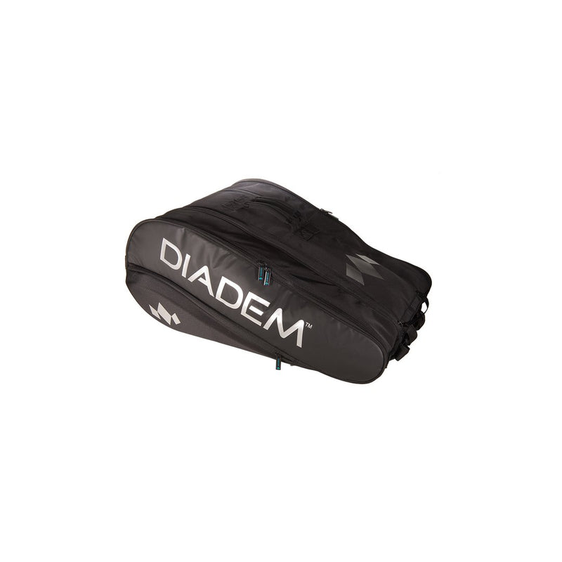 DIADEM TOUR 12 PACK NOVA RACKET BAG (BLACK/CHROME)
