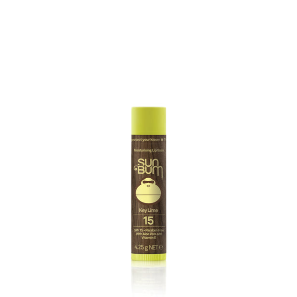 SPF 15 sunscreen lip balm Key lime