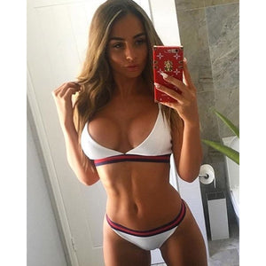Women's Intimates Womail 2pc Ashion Sexy Bra Sets Plus Size Sexy Solid Push-up Padded Bra Beach Halter Holiday Clothing Women Bra Set 2019 Mujer