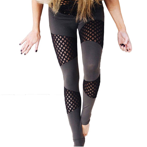Fashion Leggings For Women Skinny Sexy Leggings Mesh Patchwork Trousers Pants Leggins Women's Legging Plus Size Women Clothing