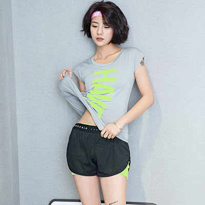 Dry Quick Women's  T Shirts  Short Sleeve Workout T-shirts Ladies Casual Loose Tights Tees Tops Clothing