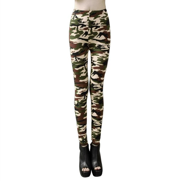 Summer Women's  Leggings Fitness 2017 camouflage pants 100% cotton leggins High Elastic gothic legging ropa mujer
